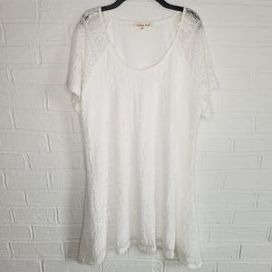 Indigo Soul white lace asymmetrical dress Large
